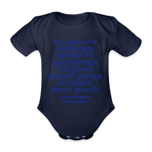 Om Asatoma Sadgamaya - Body ecologico per neonato a manica corta