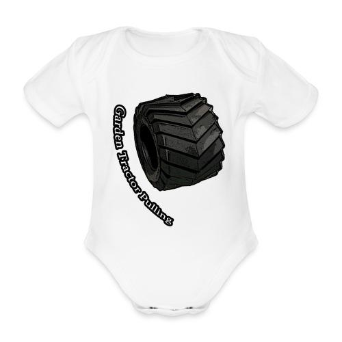 Børne Tractor pulling - Kortærmet babybody, økologisk bomuld
