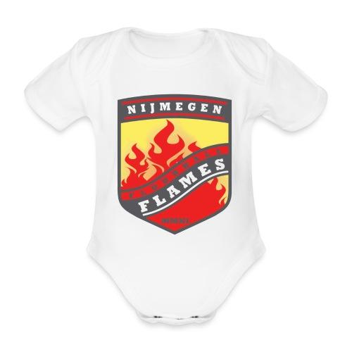 trainingsjack rood - Baby bio-rompertje met korte mouwen