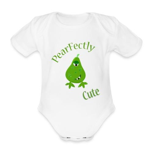pearfectly cute peer - Baby bio-rompertje met korte mouwen