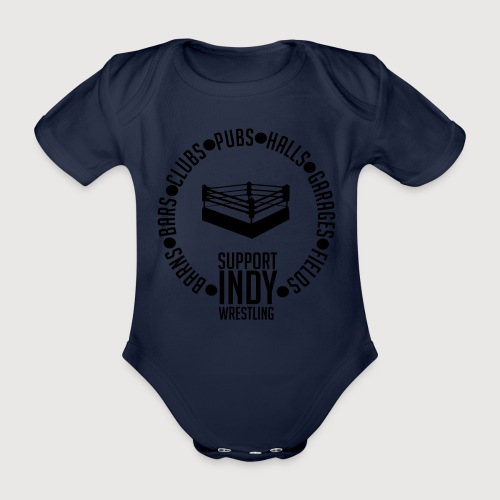 Support Indy Wrestling Anywhere - Organic Short-sleeved Baby Bodysuit