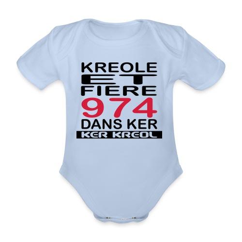 Kreole et Fiere - 974 ker kreol - Body Bébé bio manches courtes