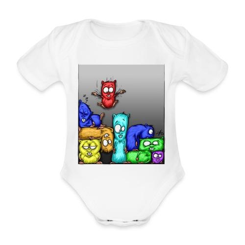 hamstris_farbe - Baby Bio-Kurzarm-Body