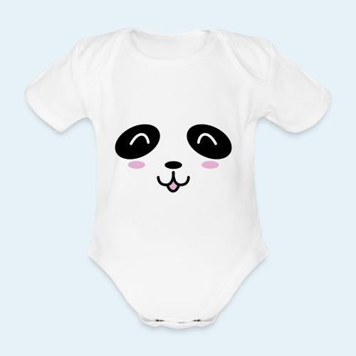 Cachorro panda (Cachorros) - Body orgánico de manga corta para bebé