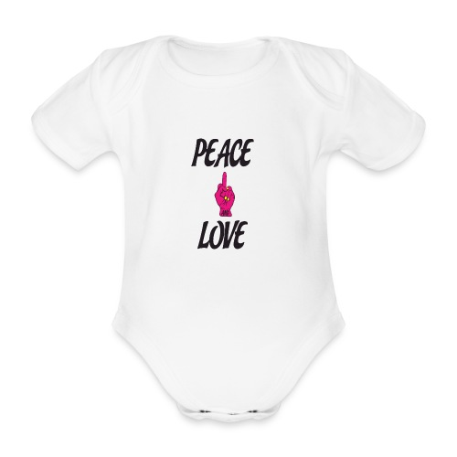 PEACE AND LOVE - Body ecologico per neonato a manica corta