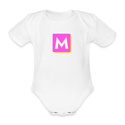 ByMINA logo - Kortærmet babybody, økologisk bomuld
