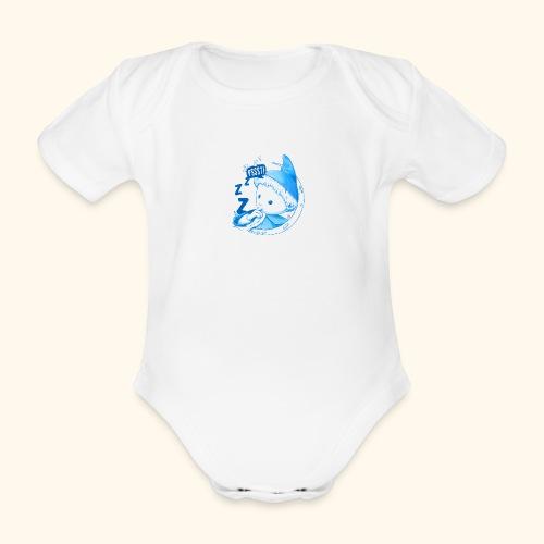 Unser Sandmännchen im Mond Pssst blau - Baby Bio-Kurzarm-Body
