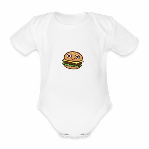 Burger Cartoon - Baby bio-rompertje met korte mouwen