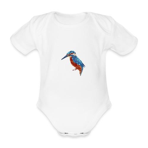 Eisvogel illustriert - Baby Bio-Kurzarm-Body