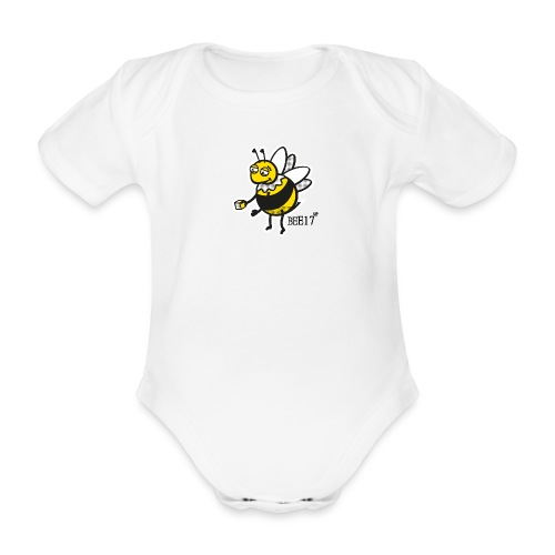 East End Bee | Babygrow - Organic Short-sleeved Baby Bodysuit