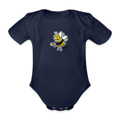 East End Bee | Babygrow - Organic Short-sleeved Baby Bodysuit