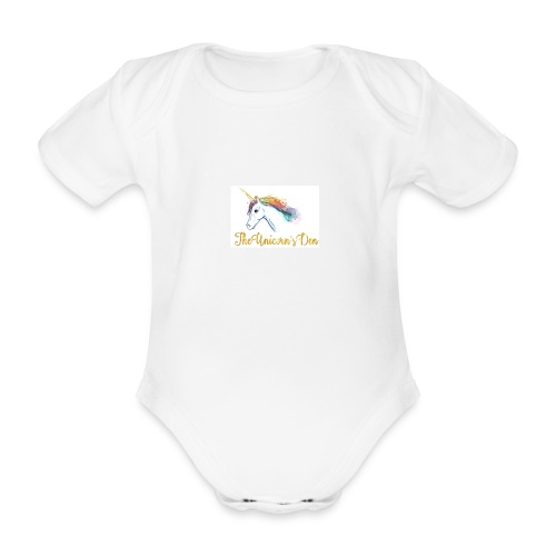 unicorn - Organic Short-sleeved Baby Bodysuit