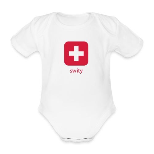 Schweizer Wappen Icon swity - Baby Bio-Kurzarm-Body