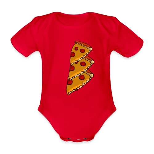 pizza - Kortærmet babybody, økologisk bomuld