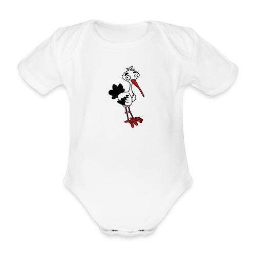 Storch von dodocomics - Baby Bio-Kurzarm-Body