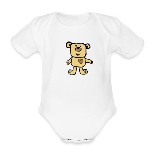 Teddy bear - Organic Short-sleeved Baby Bodysuit