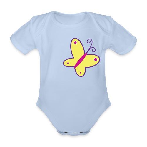 vlinder - Baby bio-rompertje met korte mouwen