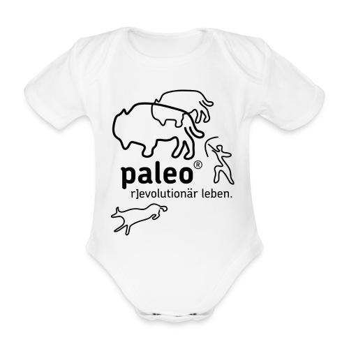 Paleo r evolutionär Illu - Baby Bio-Kurzarm-Body