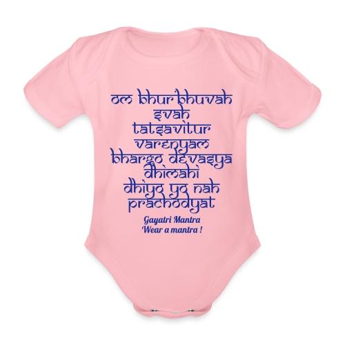 OM Bhur Bhuva Svaha - Body ecologico per neonato a manica corta