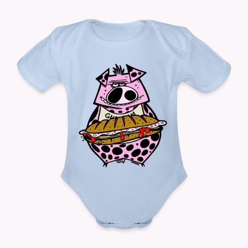 pig vs pig col - Body ecologico per neonato a manica corta