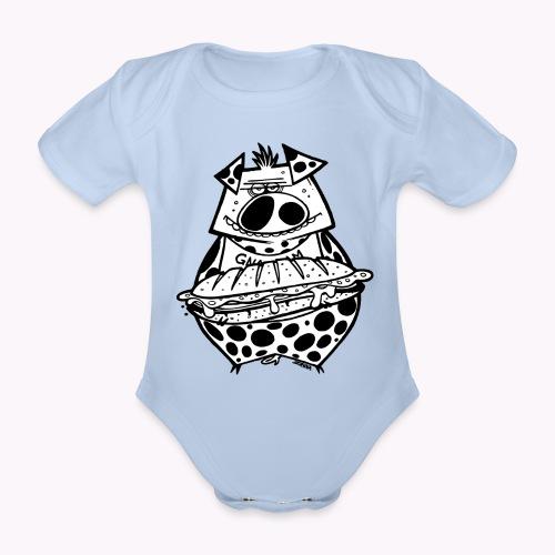 pig vs pig - Body ecologico per neonato a manica corta