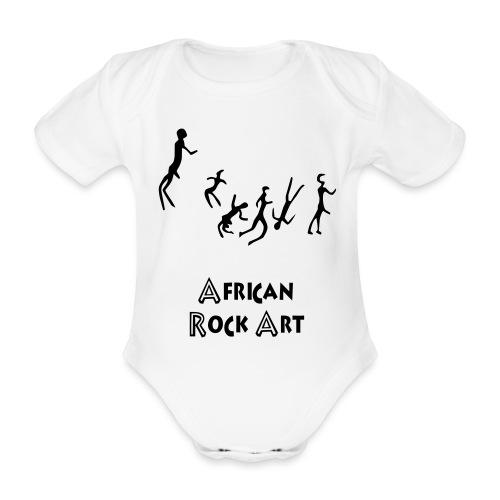 African Rock Art - Vauvan lyhythihainen luomu-body