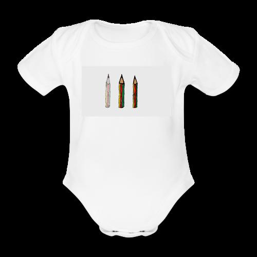 pencil - Body ecologico per neonato a manica corta