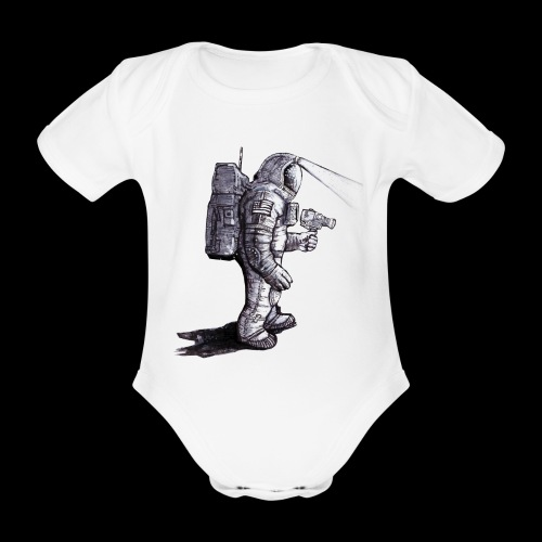 Lost Astronaut - Organic Short-sleeved Baby Bodysuit