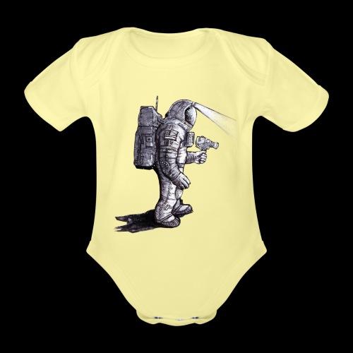 Lost Astronaut - Organic Short-sleeved Baby Bodysuit