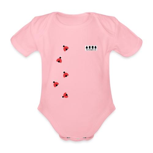 ladybird design tc - Organic Short-sleeved Baby Bodysuit