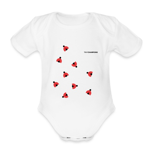 ladybird 2 design tc - Organic Short-sleeved Baby Bodysuit