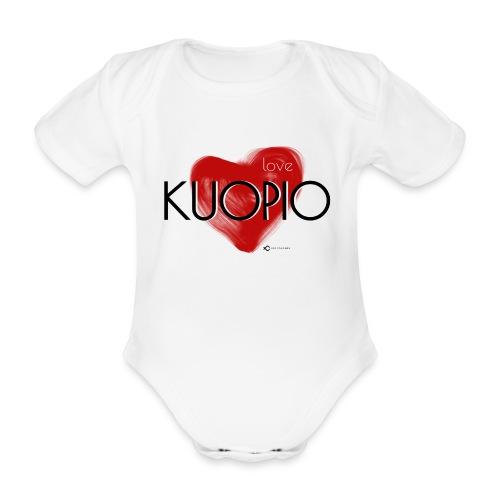 Love Kuopio teksti keskellä - Vauvan lyhythihainen luomu-body