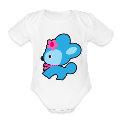 retrodog - Organic Short-sleeved Baby Bodysuit