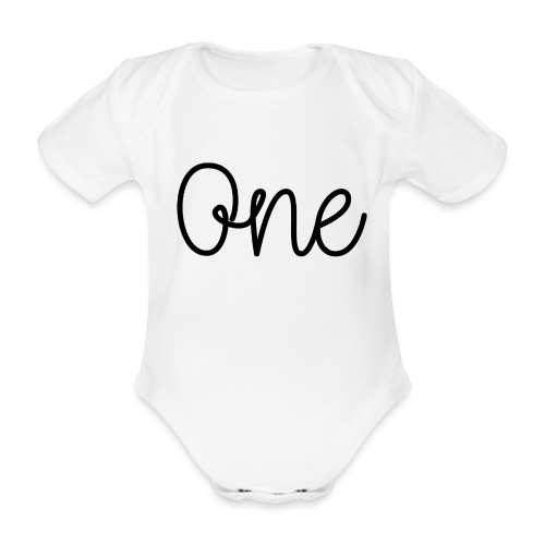 One Black - Organic Short-sleeved Baby Bodysuit