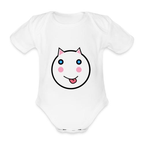 Alf The Cat - Organic Short-sleeved Baby Bodysuit