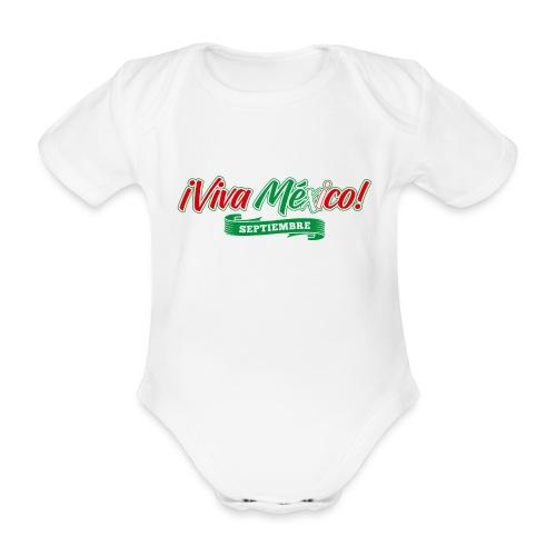 Viva Mexico - Body orgánico de maga corta para bebé