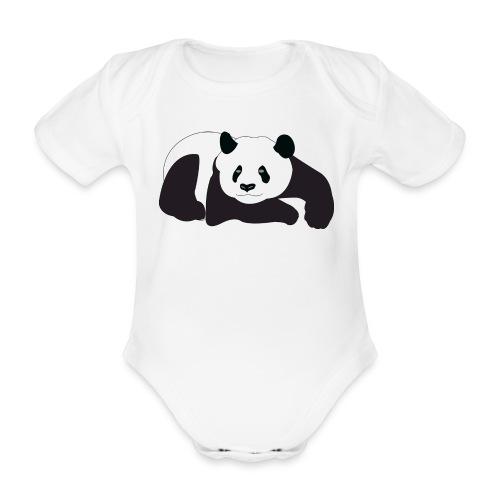 panda - Ekologisk kortärmad babybody