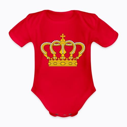 Golden crown - Organic Short-sleeved Baby Bodysuit