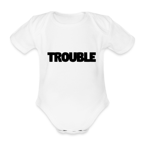 Trouble - Organic Short-sleeved Baby Bodysuit