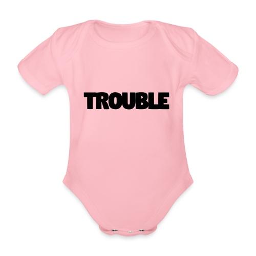 Trouble - Organic Short-sleeved Baby Bodysuit