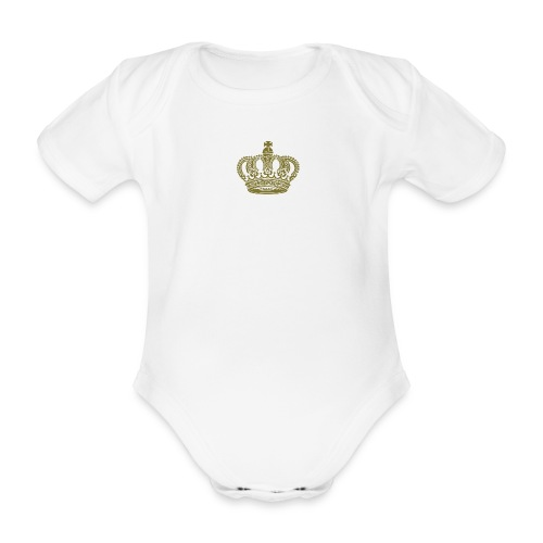 kongekrone - Økologisk kortermet baby-body