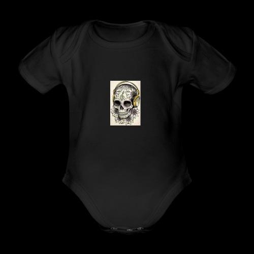 ab7a6a89ac2078fff2dd245fb15abaaf skull tattoo des - Baby bio-rompertje met korte mouwen
