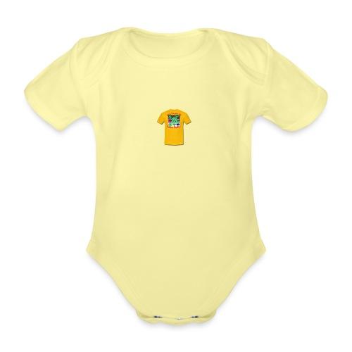 Castle design - Kortærmet babybody, økologisk bomuld