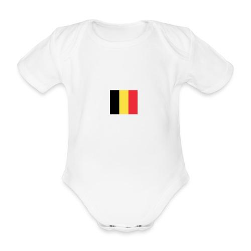 vlag be - Baby bio-rompertje met korte mouwen