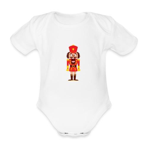 A Christmas nutcracker is a tooth cracker - Organic Short-sleeved Baby Bodysuit