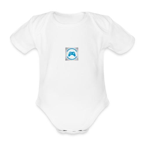 mijn logo - Baby bio-rompertje met korte mouwen
