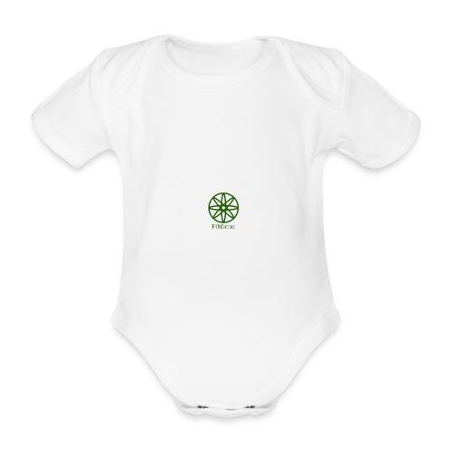 La boule d'atôme en vert - Baby Bio-Kurzarm-Body