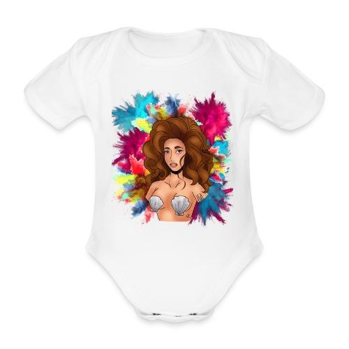VENUS mochila - Body orgánico de maga corta para bebé
