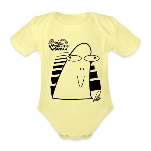 Lino - Body ecologico per neonato a manica corta