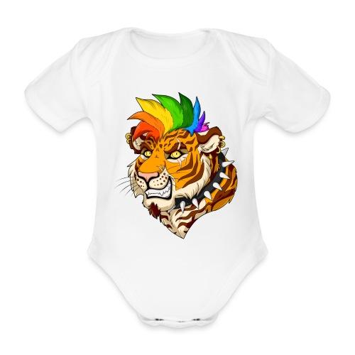 Punk Tiger - Ekologiczne body niemowlęce z krótkim rękawem